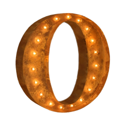 Vintage Marquee Letter - O