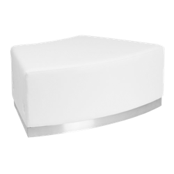 White Curved Bench