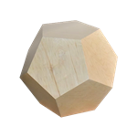 Dodecahedron End Table - Natural