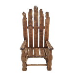 Hand Carved Wooden Throne Chair