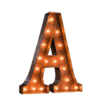 Vintage Marquee Letter - A