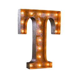 Vintage Marquee Letter - T