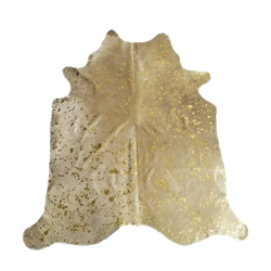 Cowhide Rug with Gold Flecks