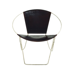 Leather Ring Chair - Black