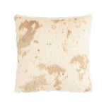 Cowhide Pillow with Gold Accents