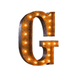 Vintage Marquee Letter - G