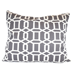 Grey Lattice Pillow
