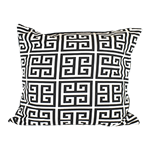 Greek Key Monochrome Pillow