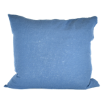 Cornflower Blue Linen Pillow
