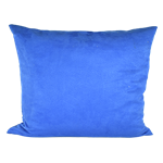 Royal Blue Faux Suede Pillow