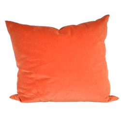 Orange Velour Pillow