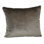 Palomar Grey Velour Pillow