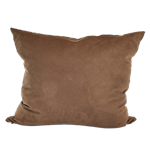 Brown Faux Suede Pillow