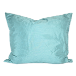 Aqua Dupioni Silk Pillow
