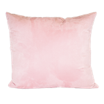 Baby Pink Faux Suede Pillow
