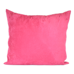 Hot Pink Faux Suede Pillow
