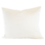 Off-White Linen Pillow