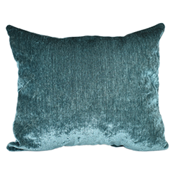Teal Chenille Pillow