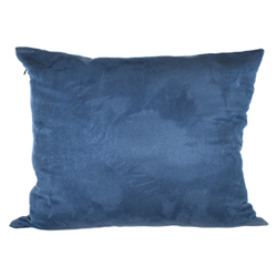 Blue Faux Suede Pillow