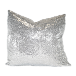 Silver Sequin Pillow