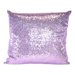 Lilac Sequin Pillow