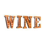 WINE Vintage Marquee Letters