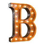 Vintage Marquee Letter - B