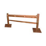 Split Rail Fence with Drink Rail