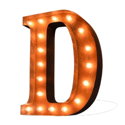 Vintage Marquee Letter - D