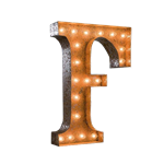 Vintage Marquee Letter - F