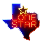 Lone Star Texas Outline Beer Neon