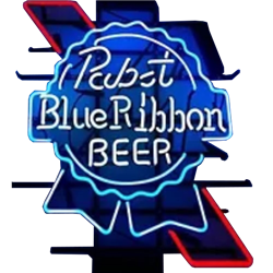 Pabst Blue Ribbon Beer Neon