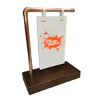 Copper Pipe Sign Stand - Small