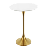 Gold Highboy Table