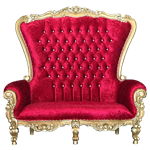 Red & Gold Double Throne