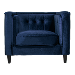 Navy Velvet Arm Chair