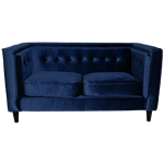 Navy Velvet Loveseat