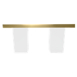 Gold Mirrored Column Table - White