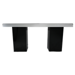 Mirrored Column Table - Black