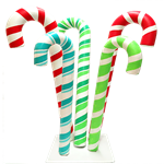 Candy Cane Cluster - Red & Green