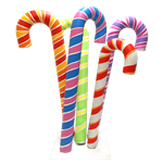 Candy Cane Cluster - Rainbow