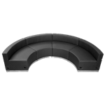 Black Concave Half-Circle Lounge
