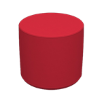 Cylinder Stool Red
