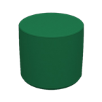 Cylinder Stool Green