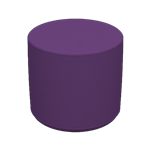 Cylinder Stool Purple