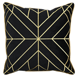Black Art Deco Pillow