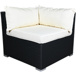 Black Rattan Corner Chair