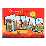 Oversized Howdy Texas Postcard