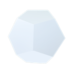 Dodecahedron End Table - White
