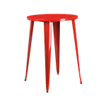 Red Bistro Bar Table
